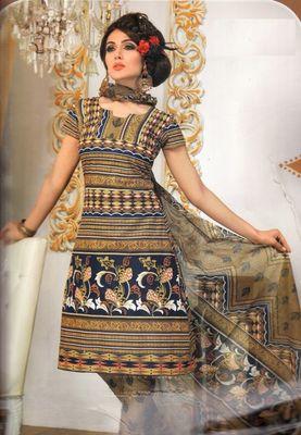 Cotton Dress Material Elegant Designer Unstitched Salwar Suit D.No 3202