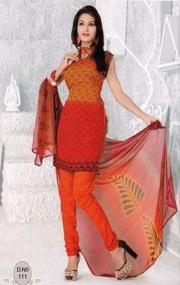 Dress Material Elegant French Crepe Printed Unstitched Salwar Kameez Suit D.No N111