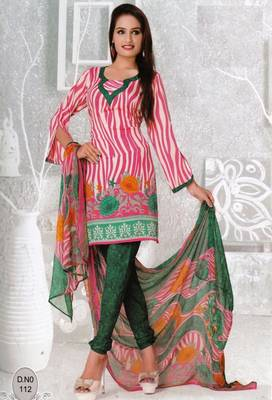 Dress Material Elegant French Crepe Printed Unstitched Salwar Kameez Suit D.No N112