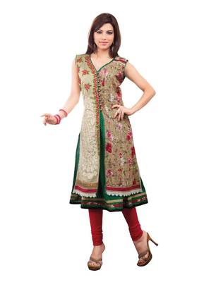 ISHIN Cotton Stitched Multicolor Kurti AANANDI