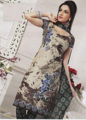 Cotton Dress Material Elegant Designer Unstitched Salwar Suit D.No 12005