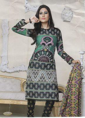 Cotton Dress Material Elegant Designer Unstitched Salwar Suit D.No 12020