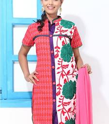 Buy Chinese collar Kurti style Churidar suit straight-suit online