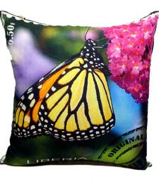 Buy Digital Butterfly Print Pink And Blue Cushion Cover other-home-furnishing online