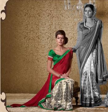 Elegant Designer Sari Gun8407a