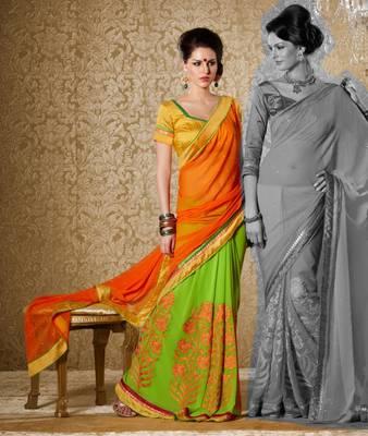 Elegant Designer Sari Gun8412a