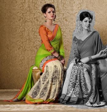 Elegant Designer Sari Gun8418a