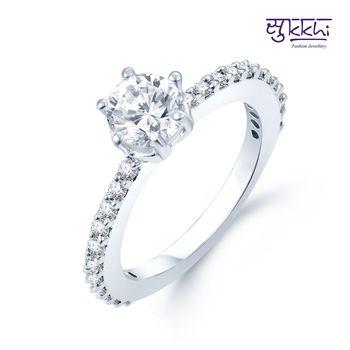Sukkhi Moddish Rhodium Plated CZ rings(149R420)