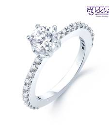 Buy Sukkhi Moddish Rhodium Plated CZ rings(149R420) Ring online
