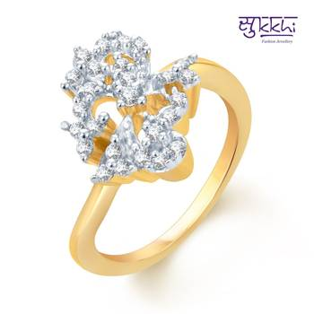Sukkhi Beguilling Classy Gold and Rhodium Plated CZ rings(167R530)