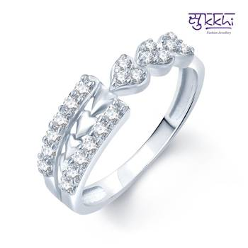 Sukkhi Artistically Crafted Rhodium Plated CZ rings(181R350)