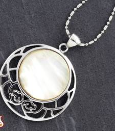 Buy Round Shell Silver Pendant fashion-deal online