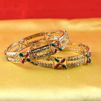 gold platted bangles size-2.6