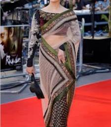 Buy Aishwarya Rai In Black And White Net Sari With Designer Blouse bollywood-saree online