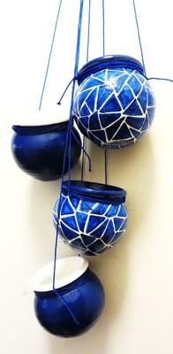 Blue Mosaic Terracotta hanging
