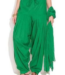 Buy Green Cotton Patiyala and Dupatta Set other-apparel online
