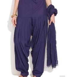 Buy Blue Cotton Patiyala and Dupatta Set other-apparel online