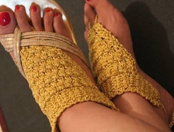 Golden Barefeet sandals
