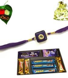 Buy Multipurpose Royal Jewel Rakhi Chocolate jeweled-rakhi online