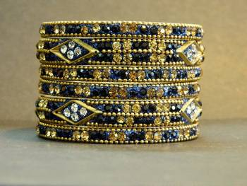 Indian New bridal Bangle in MNT Blue Colour SIZE : 2.6