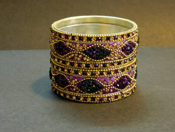 Indian handmade designer Purple/Green Bangle