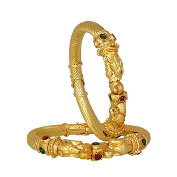 Luxor Beautiful Gold Plated Bangles Mothers Day Gift for women BG-1884 (set of 2)