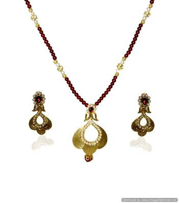 Kshitij Ethnic Multicoloured Necklace Set