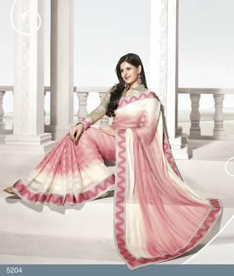 Designer Elegant Zarine Khan Bollywood Sari STUDIO5204