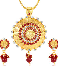 Buy Fascinating Gold Plated Pendant Set Pendant online