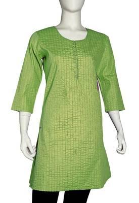 Just Women - Elegant Yellow Green Kurti